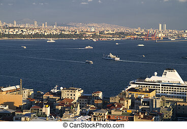 Turkey Istanbul View on Bosphorus