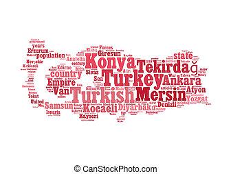 Turkey map info-text graphic and arrangement concept