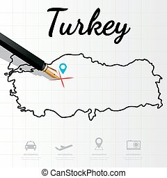 Turkey map Infographic