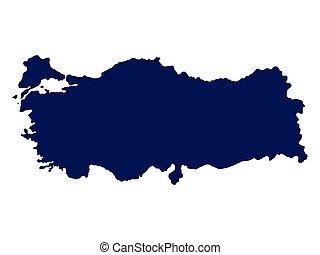 Turkey map on a white background