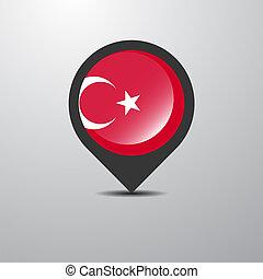 Turkey Map Pin