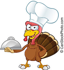 Turkey Mascot - Chef