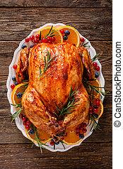turkey., o, alimento, navidad, festivo, tradicional, acción de gracias