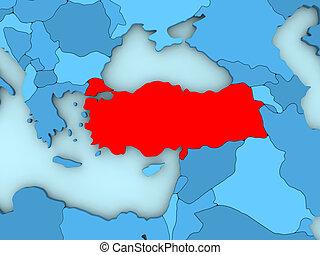 Turkey on 3D map