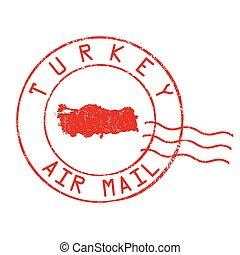Turkey post office stamp