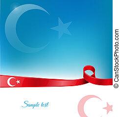 turkey ribbon flag background