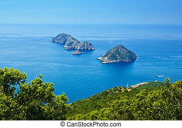 Turkey sea landscape - Turkey landscape with blue sea, sky,...