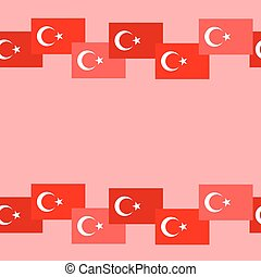 Turkey seamless flags background