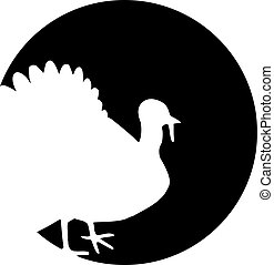 Turkey silhouette in front of moon