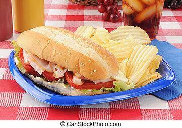 Turkey submarine sandwich