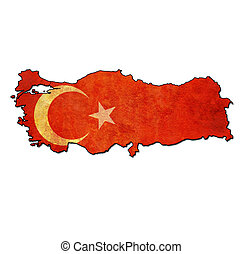 turkey territory with flag