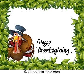 Turkey thanksgiving card template