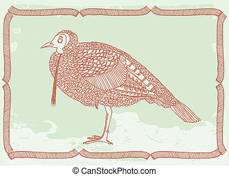 Turkey Tom original drawing vectorized
