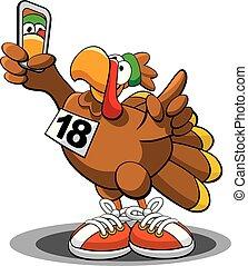 Turkey Trot 2018 - A vector illustration of a Thanksgiving...