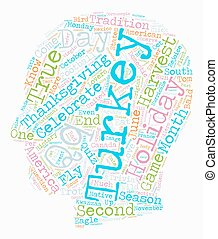 Turkey Trot text background wordcloud concept