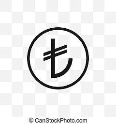 Turkey, turkish lira icon. Vector illustration, flat design