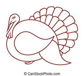 Turkey vector icon