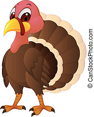 Vector illustration of turkey cartoon