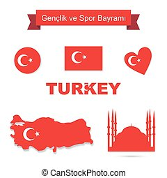 Turkey vector set