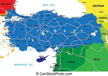turkiet, karta