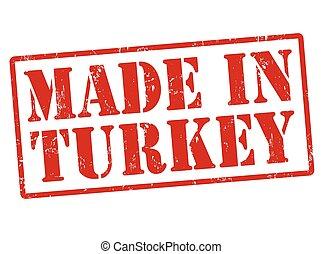 turkiet, stämpel, gjord