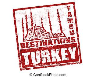 turkiet, stämpel