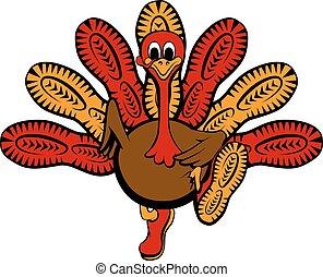 turkiet, sula, springa, tacksägelse