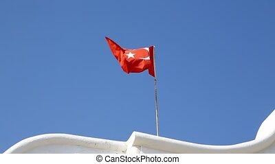 turkije, het watergolven dundoek, wind