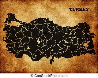 turkije, kaart
