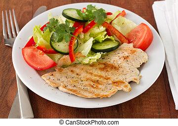 turkije, met, groentes