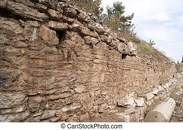 turkije, muur, ephesus, earch