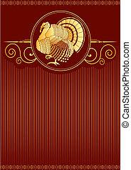 turkije, postkaart, .vector, dankzegging, achtergrond