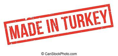 turkije, rubber, gemaakt, postzegel