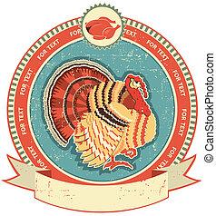turkije, texture.vintage, oude stijl, etiket, papier