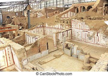 turkije, woongebied, binnen, archeologisch, thuis, ephesus, ruïnes