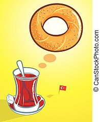 turkish bagel and tea
