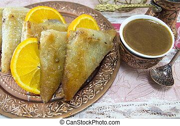 Turkish baklava and coffee
