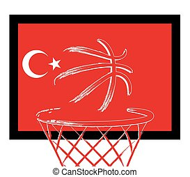 Turkish basketball, vector