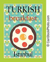 Turkish Breakfast Poster Design