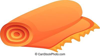 Turkish carpet icon, cartoon style