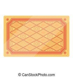 Turkish carpet icon in cartoon style isolated on white background. Turkey symbol stock vector illustration.