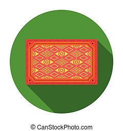 Turkish carpet icon in flat style isolated on white background. Turkey symbol stock vector illustration.