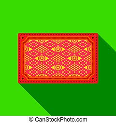 Turkish carpet icon in flate style isolated on white background. Turkey symbol stock vector illustration.
