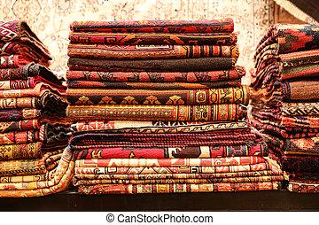 Turkish Carpets in Grand Bazaar, Istanbul, Turkey