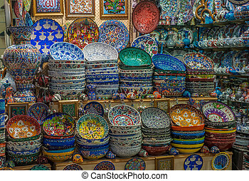 Turkish ceramics at Grand Bazaar, Istanbul