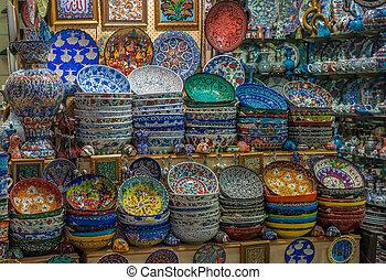 Turkish ceramics at Grand Bazaar, Istanbul