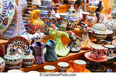 Turkish Ceramics in Spice Bazaar