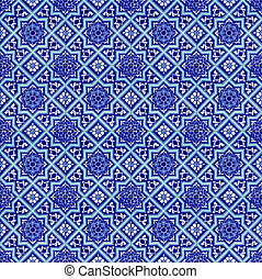 Turkish ceramics - Seamless background made of turkish ...