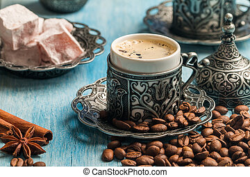 Turkish coffee and delight