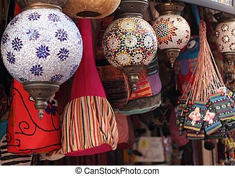 Turkish colorful lights and bags